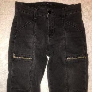 J Brand Pants - JBrand gold zip skinny jeans